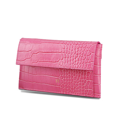 Leather Lady Croc Wallet - LRM