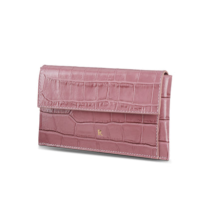 Leather Lady Croc Sheen Wallet - LRM