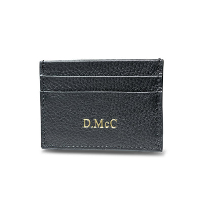 Card Holder Pebbled Leather - LRM