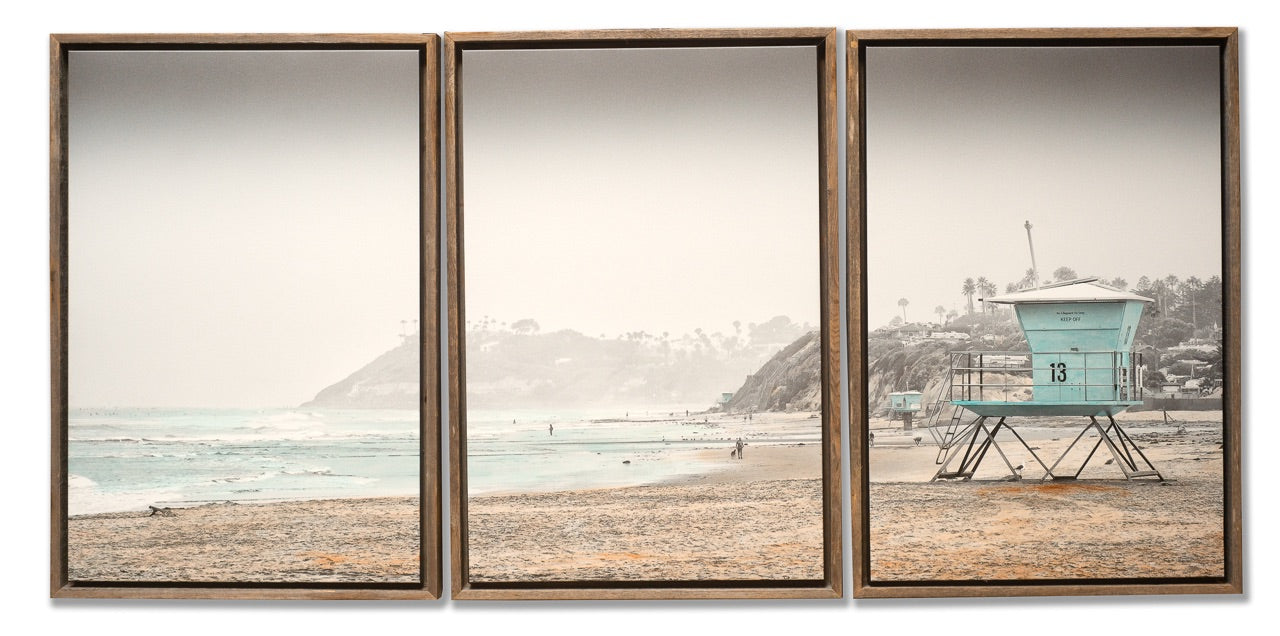 Beach photograph triptych