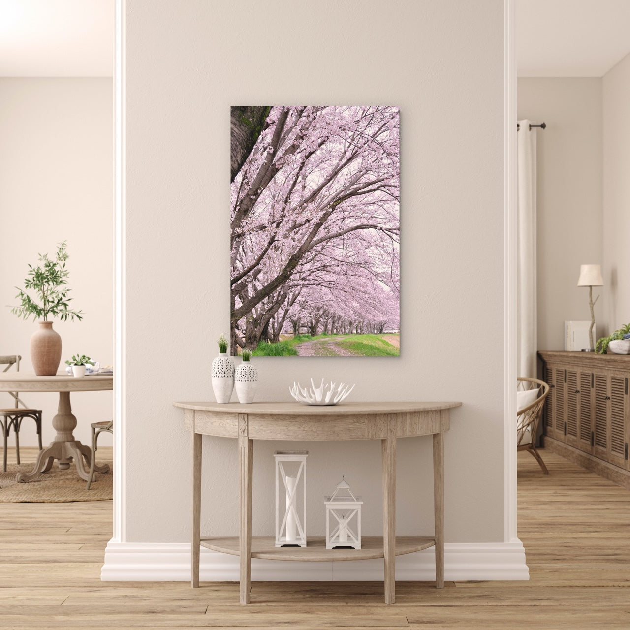Floral Wall Art in living room