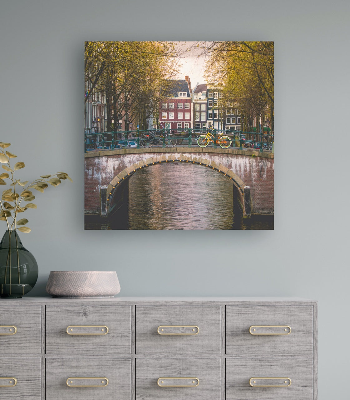 Autumn in Amsterdam Gallery Wrapped Canvas