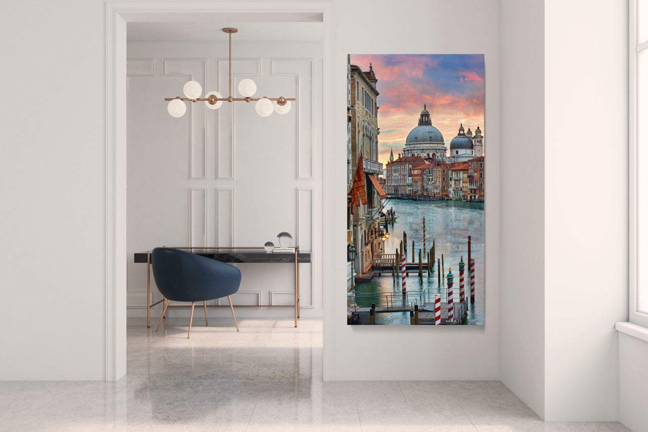 Modern Office with Italy Wall Art
