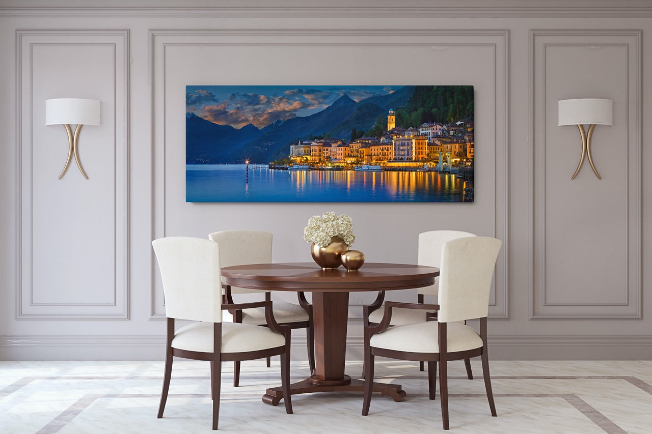 Panorama canvas Italy wall art in dining room
