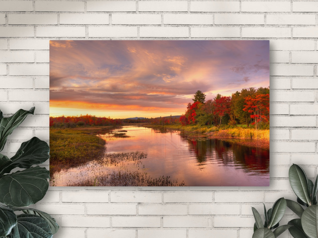 Photography print of a lake in autumn