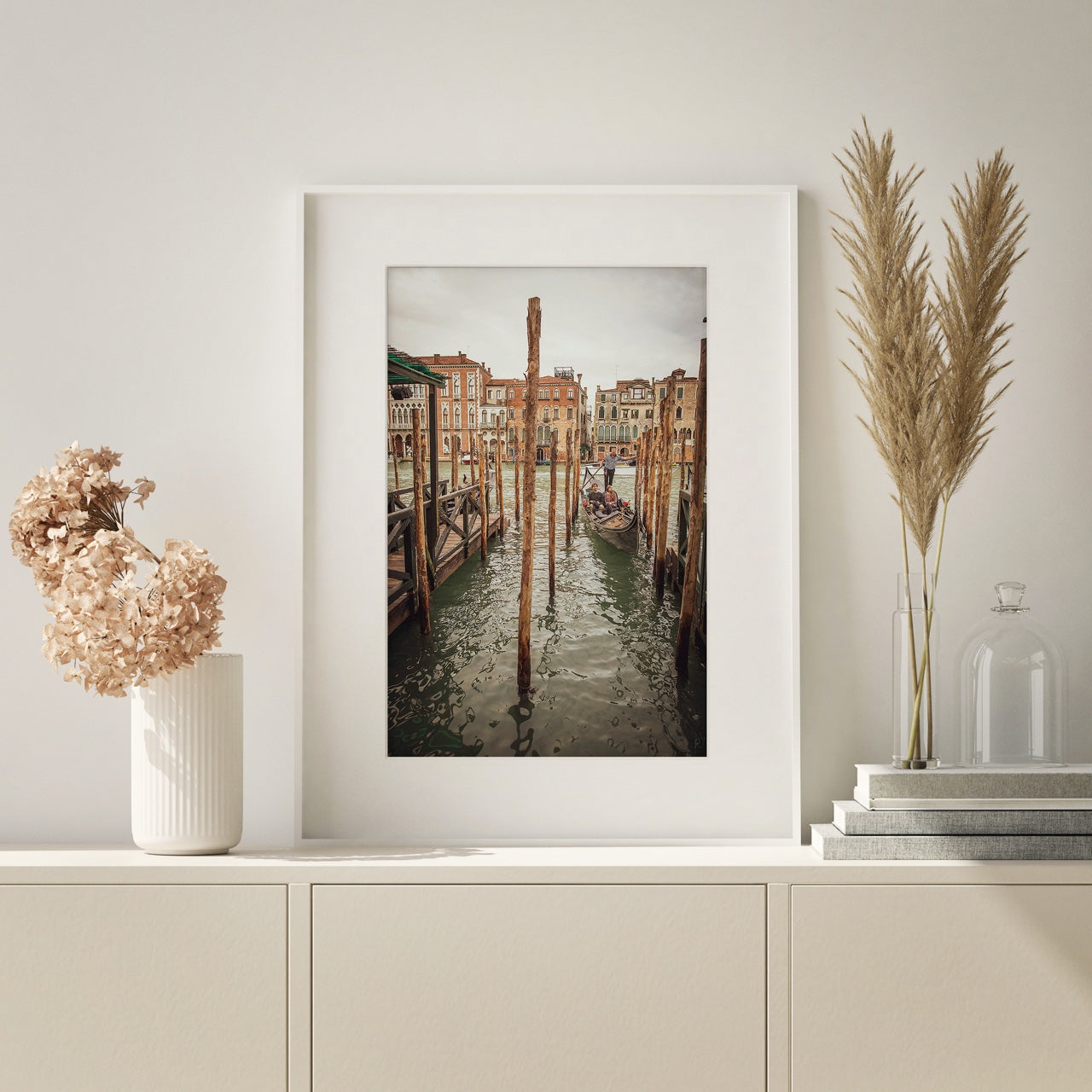 Framed matted print of Italy