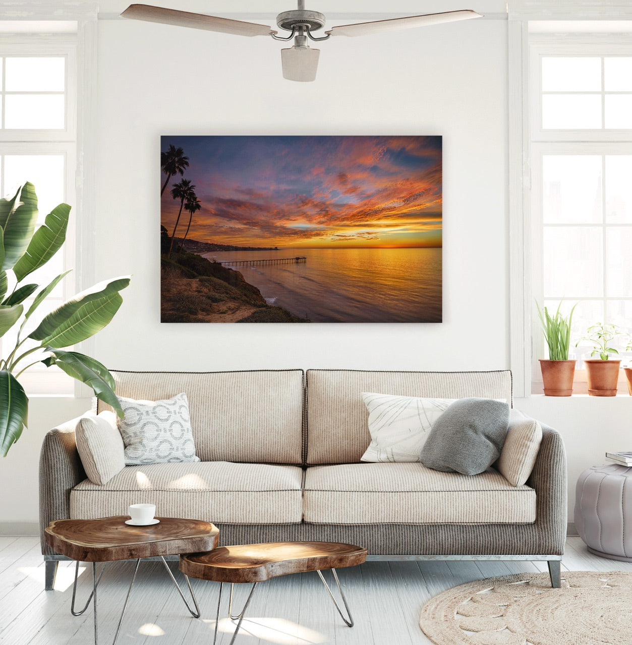 """Above the Jewel"" Sunset Living Room Wall Art"