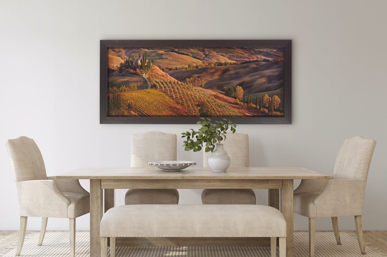 Dining room with Italian wall art