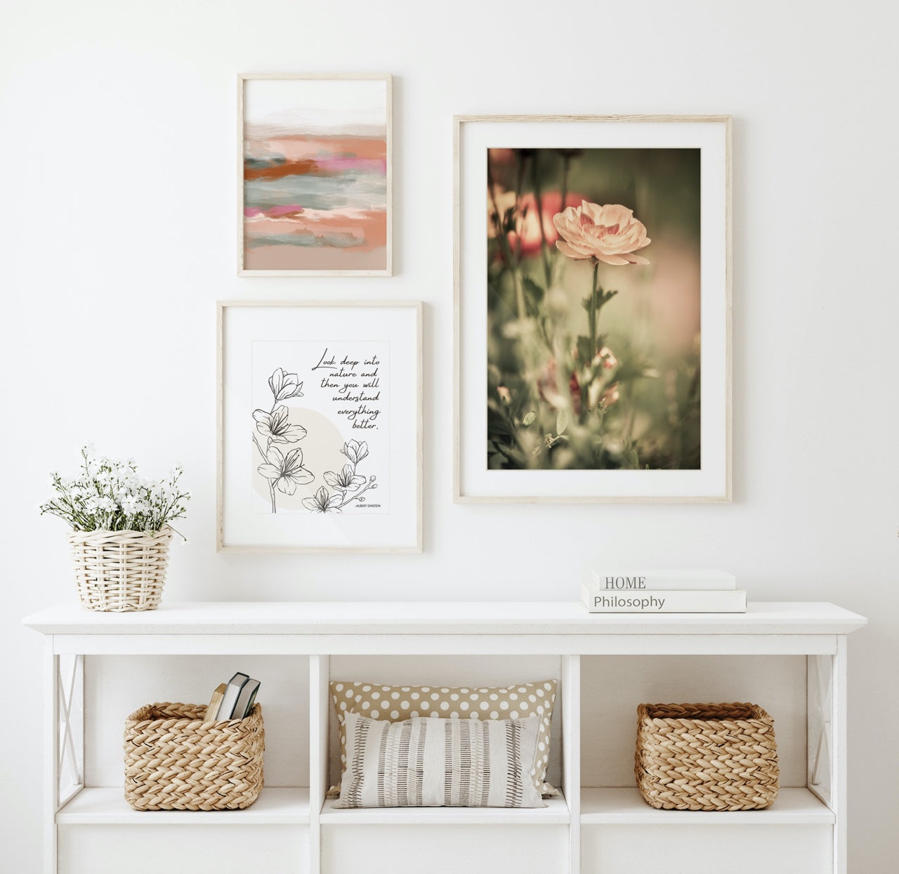Floral Gallery Wall