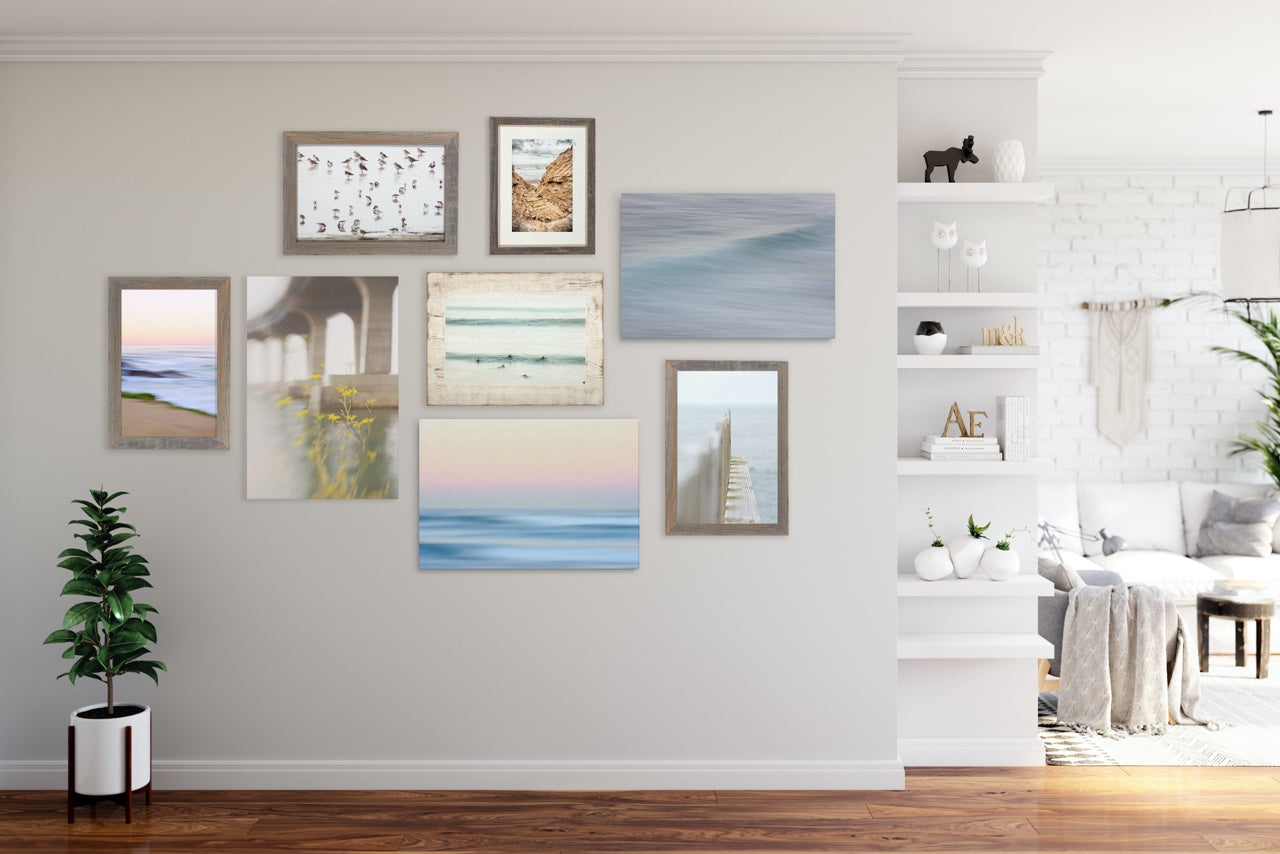 Beach Themed Gallery Wall