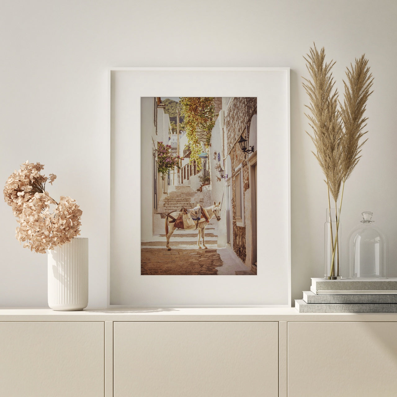 framed photo wall art Greece