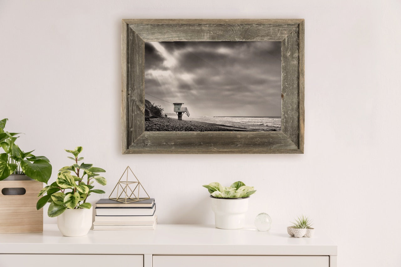 Framed beach art