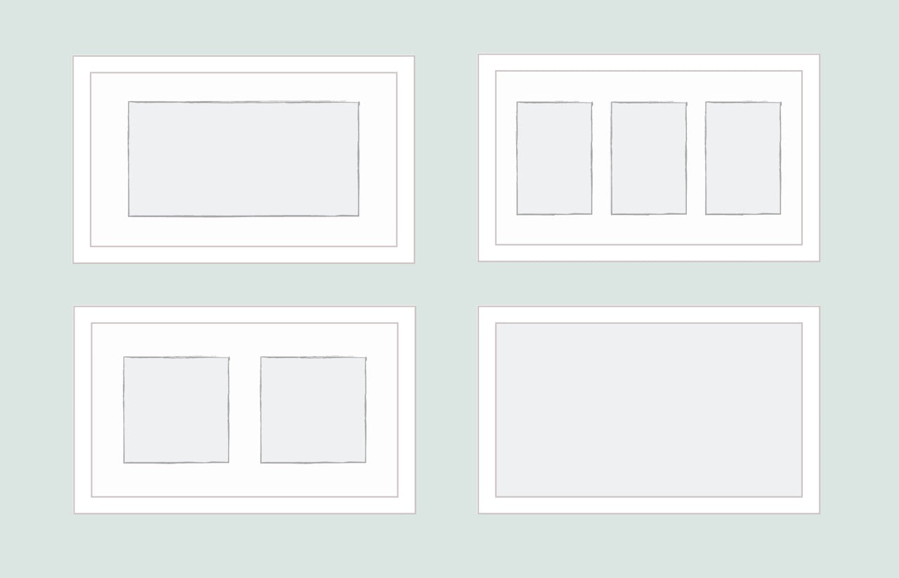 Horizontal Framed Mat Variations