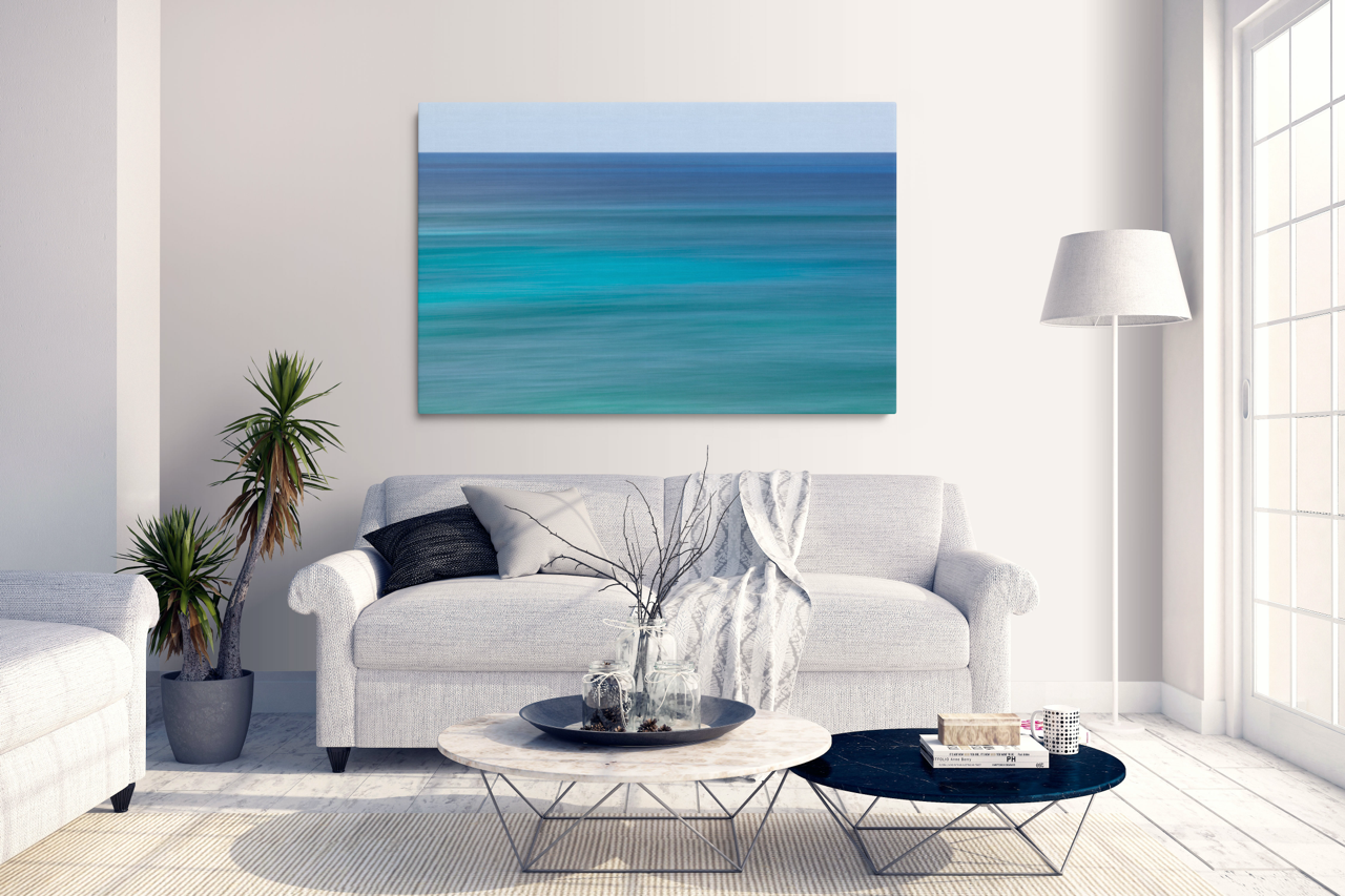 Abstract Blue Wall Art