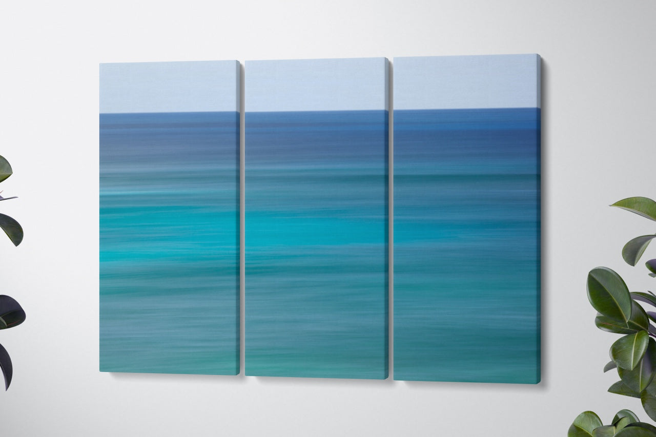 Triptych canvas wall art abstract ocean
