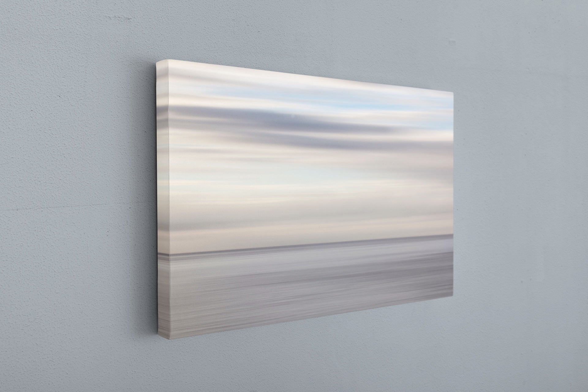 Abstract gray and white canvas art