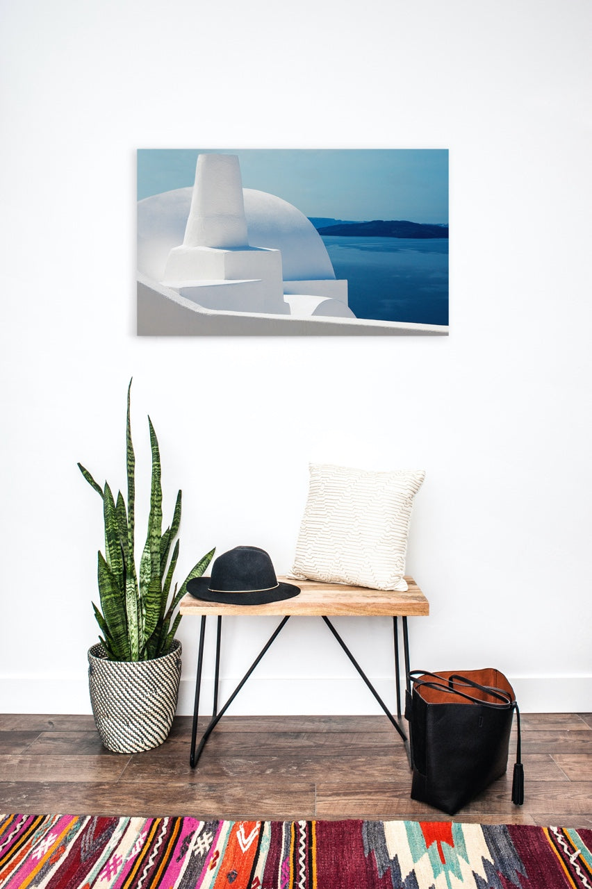 Abstract Greece wall art in entryway