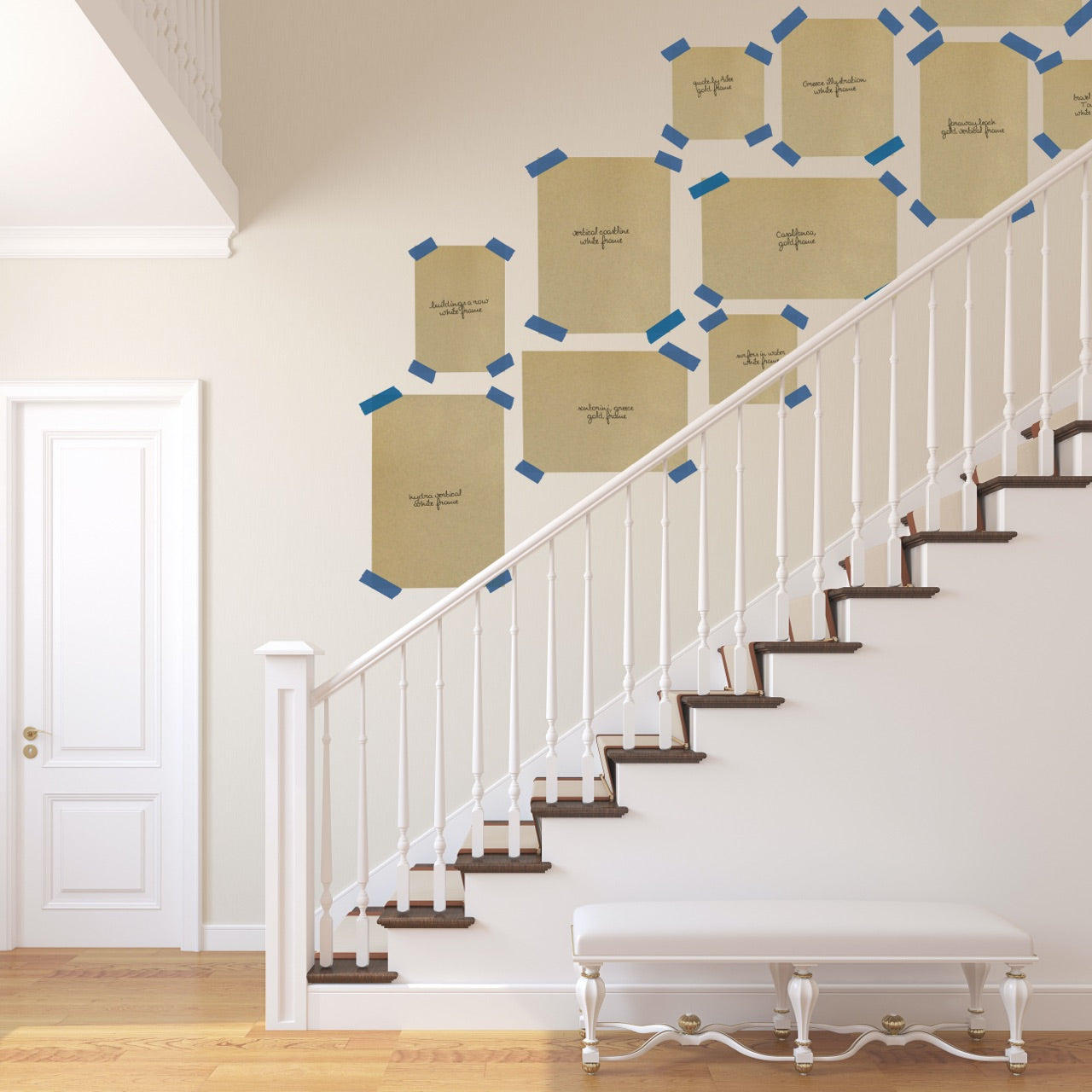 How to Design Staircase Gallery Wall