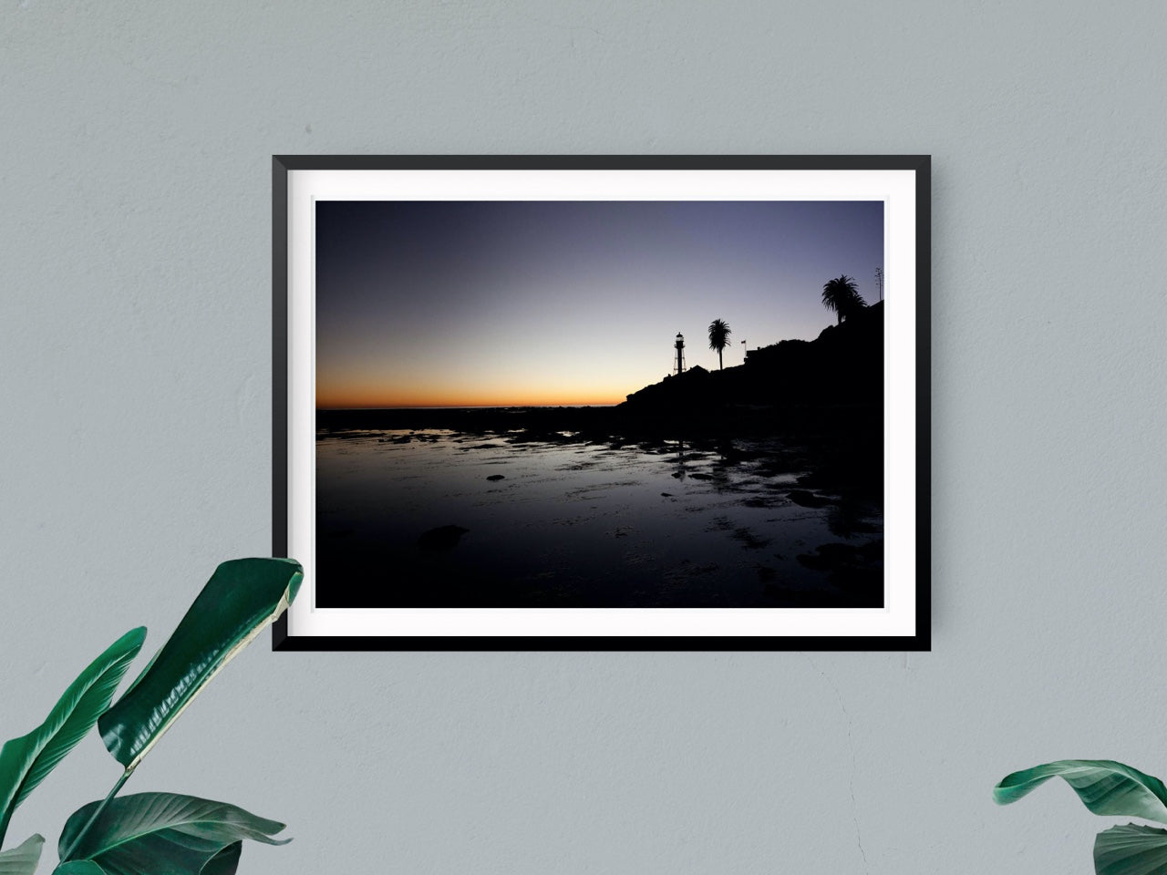 Coastal framed photo art