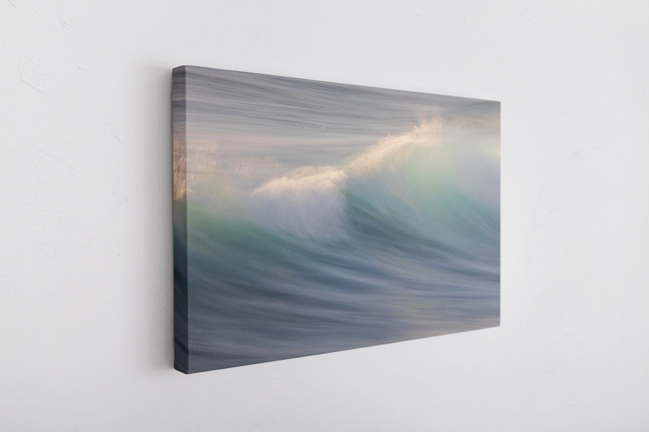 Abstract ocean wave on canvas
