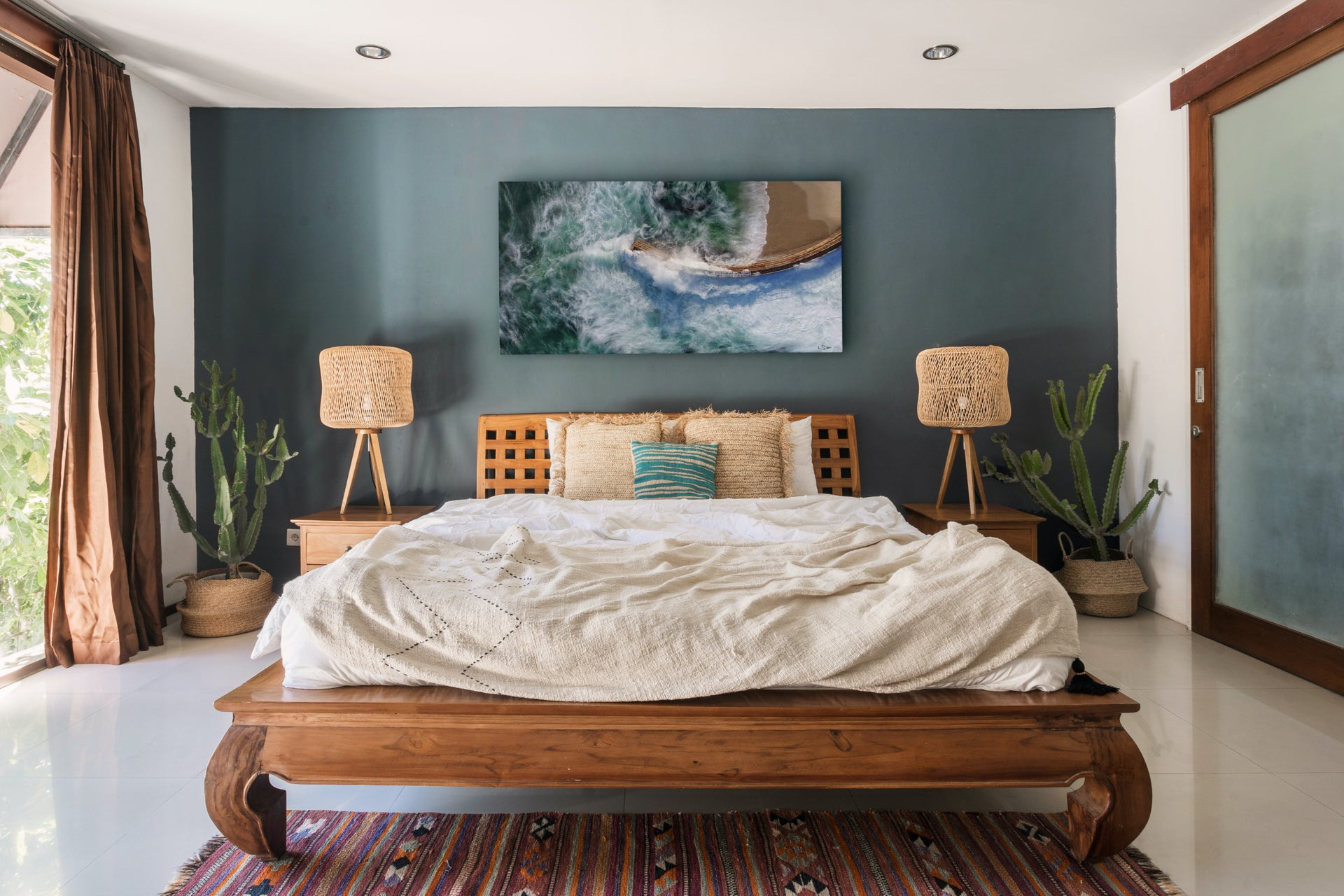 Ocean Art in bedroom