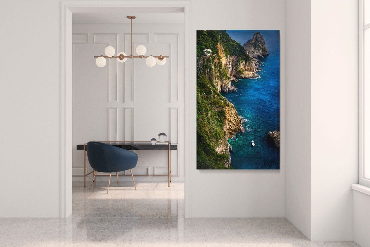 "Fine Art Prints - ""Cliffs Of Capri"" 