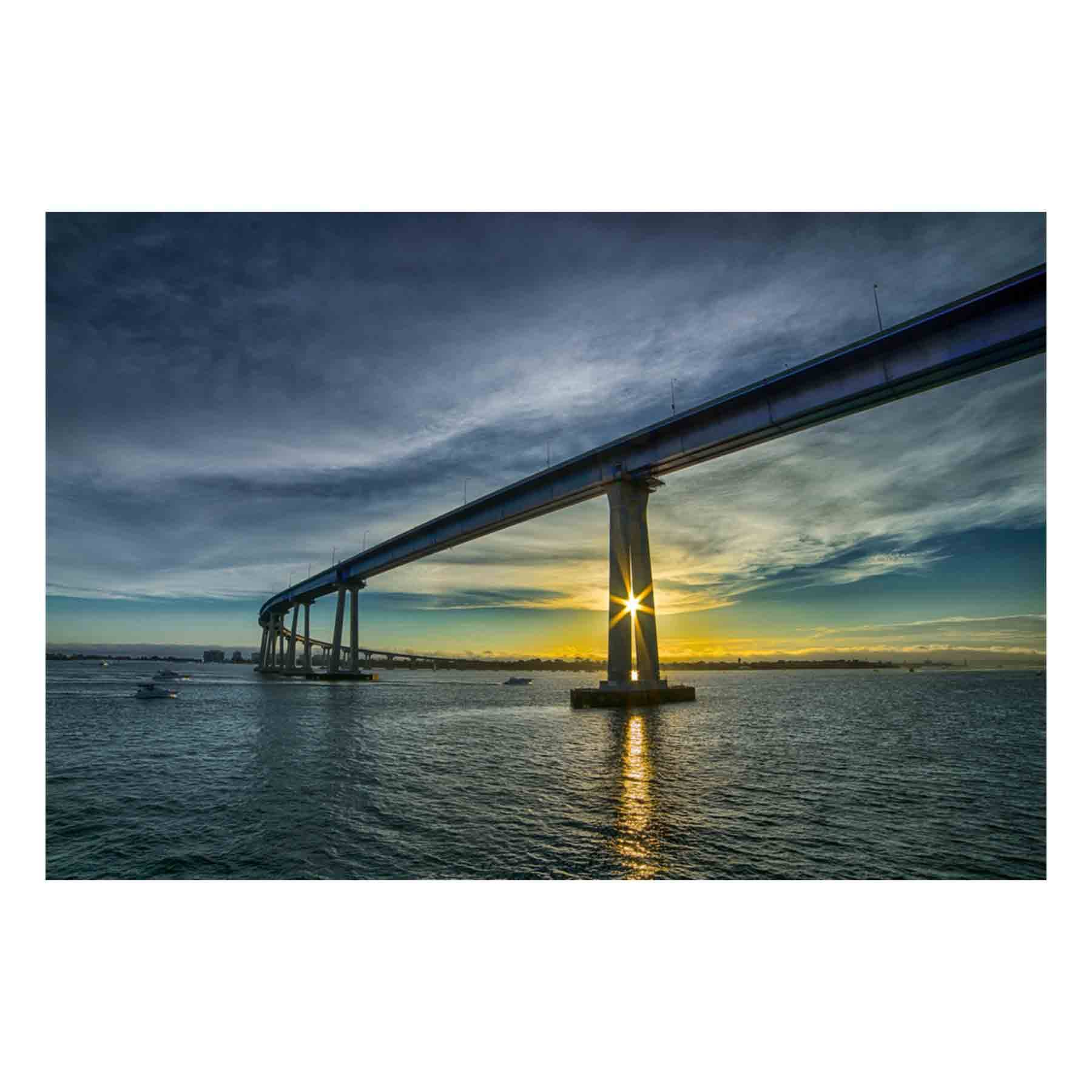 "Fine Art Prints - ""Coronado Bridge At Sunset"" 