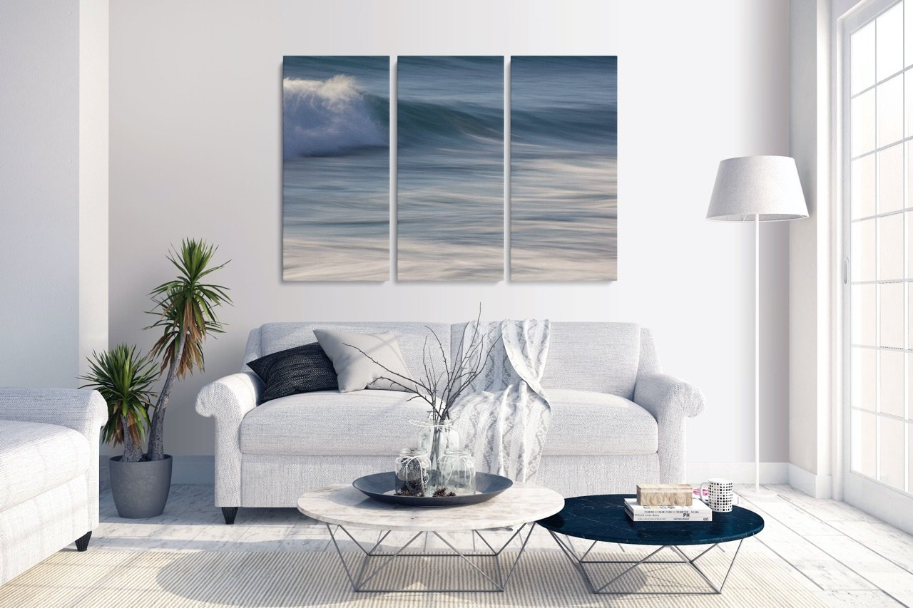 "Fine Art Prints - ""Deep Blue Surf Triptych"" 