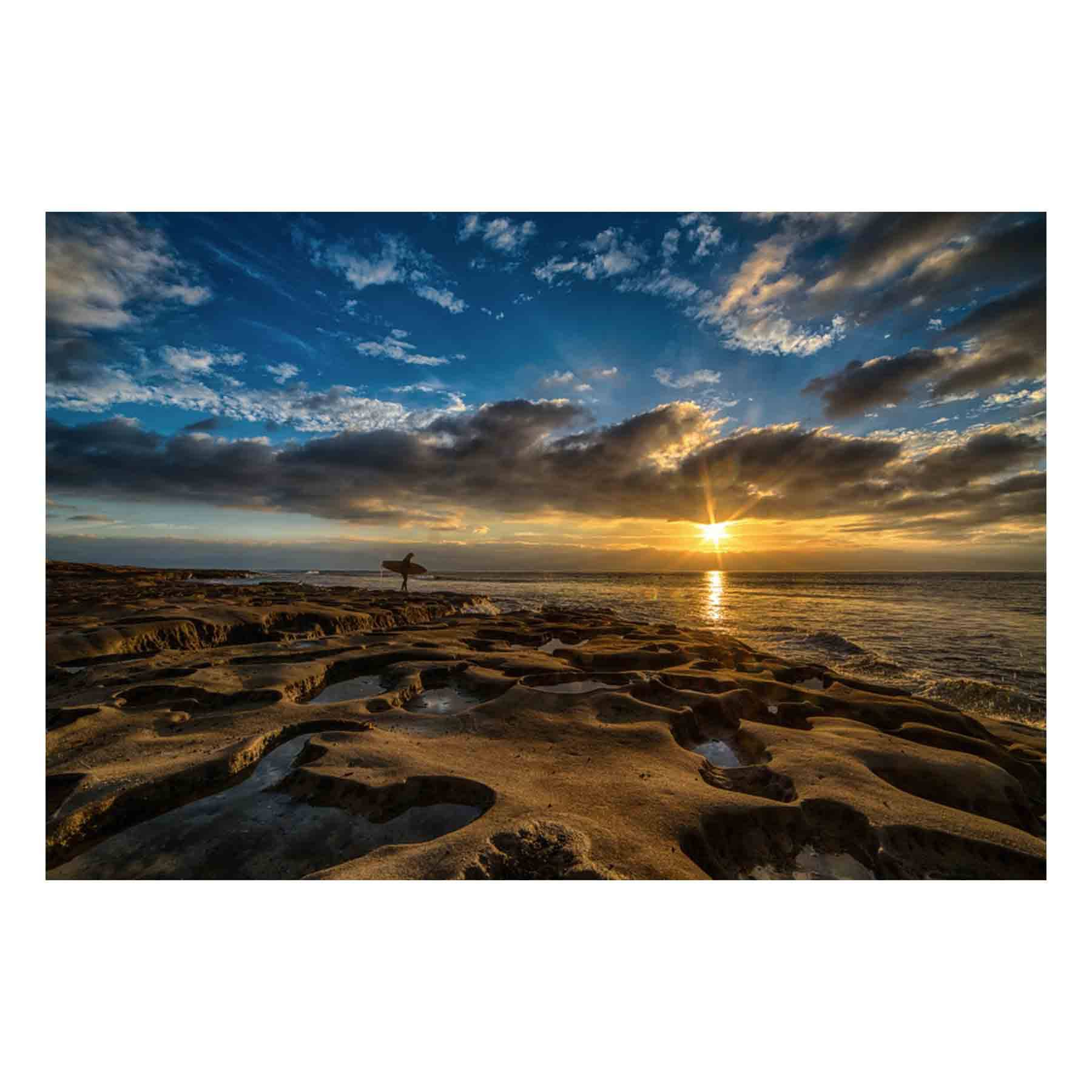 "Fine Art Prints - ""Hospital Reef Surfer At Sunset"" 