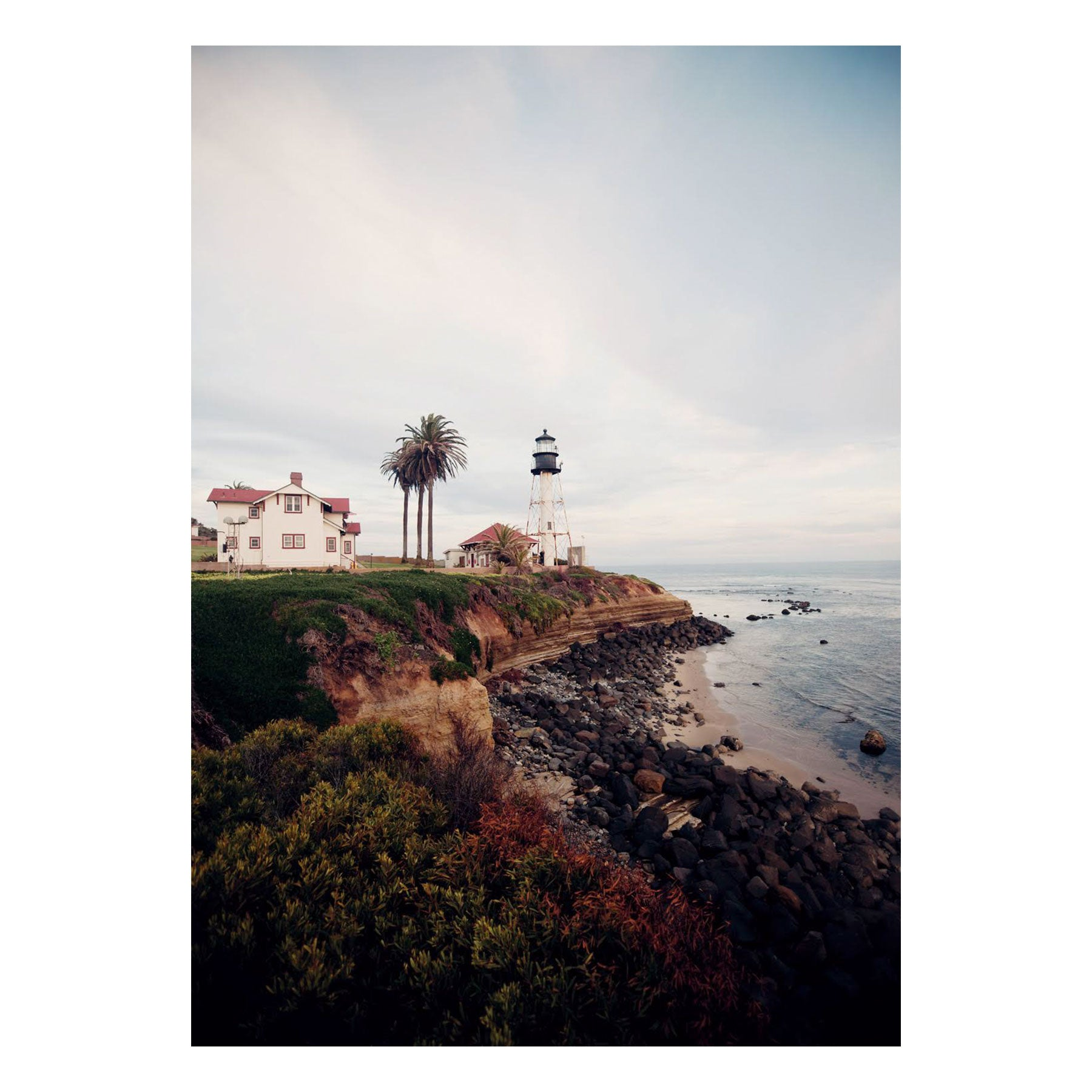 "Fine Art Prints - ""Lighthouse With Rocks Below"" 