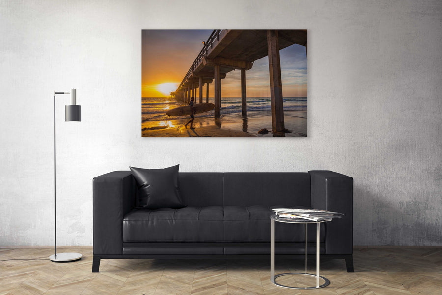 "Fine Art Prints - ""Scripps Surfer At Sunset"" 
