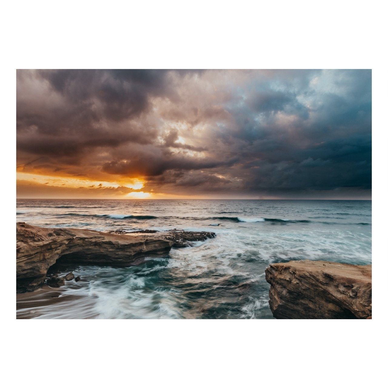 "Fine Art Prints - ""Stormy Sunset Cliffs"" 
