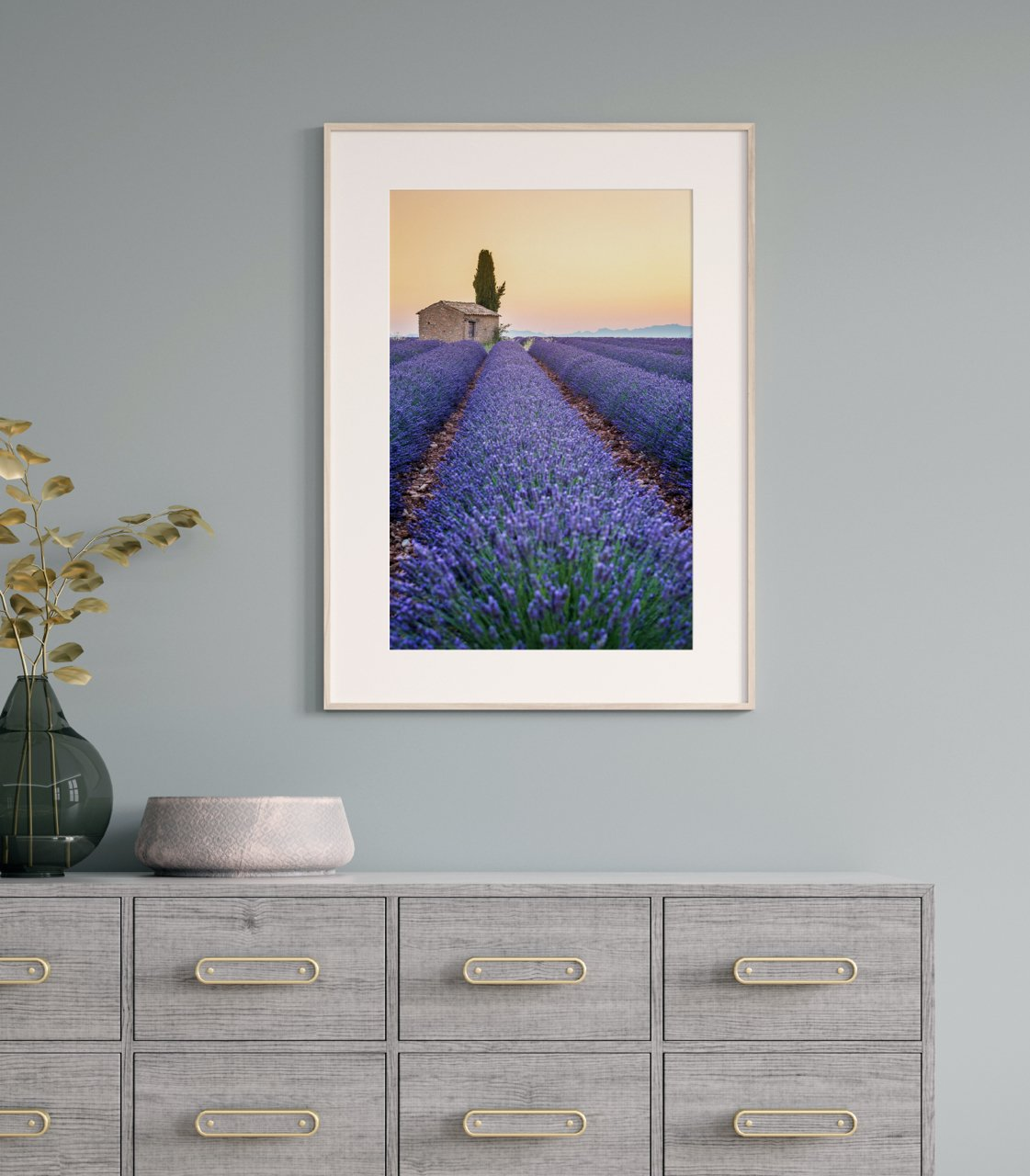 "Fine Art Prints - ""Stripes Of Lavendar"" 