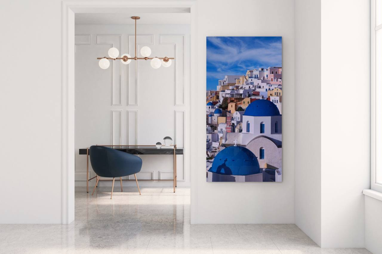 "Fine Art Prints - ""Vertical Living Santorini"" 