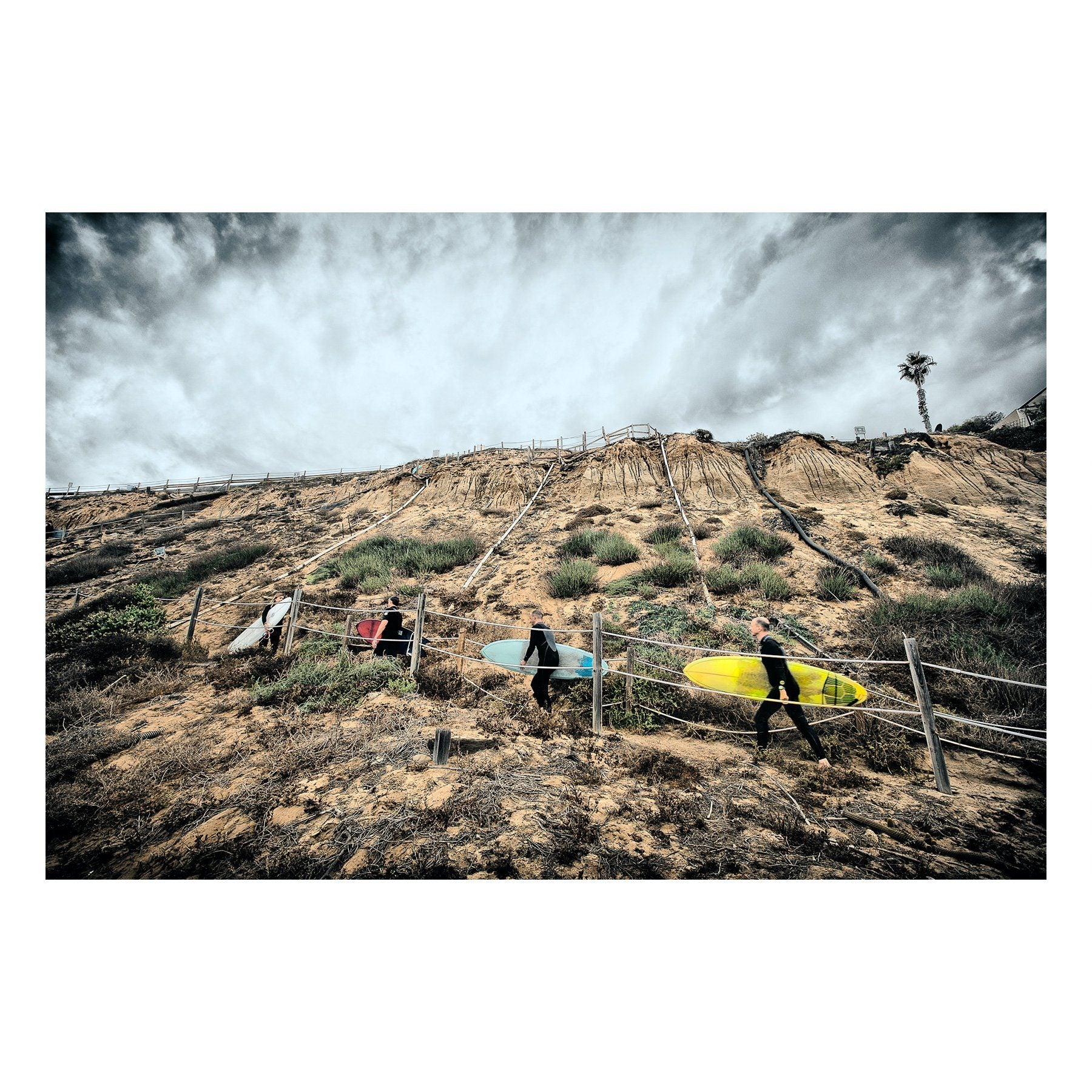 "Matted Prints - ""Beacon's Surfers"" 