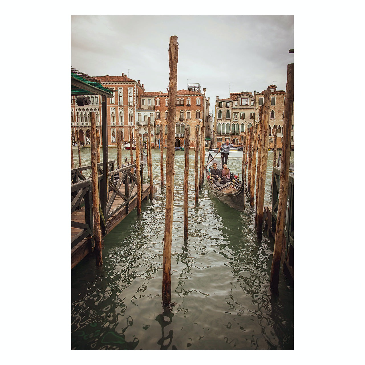 "Matted Prints - ""Canal, Venice"" 