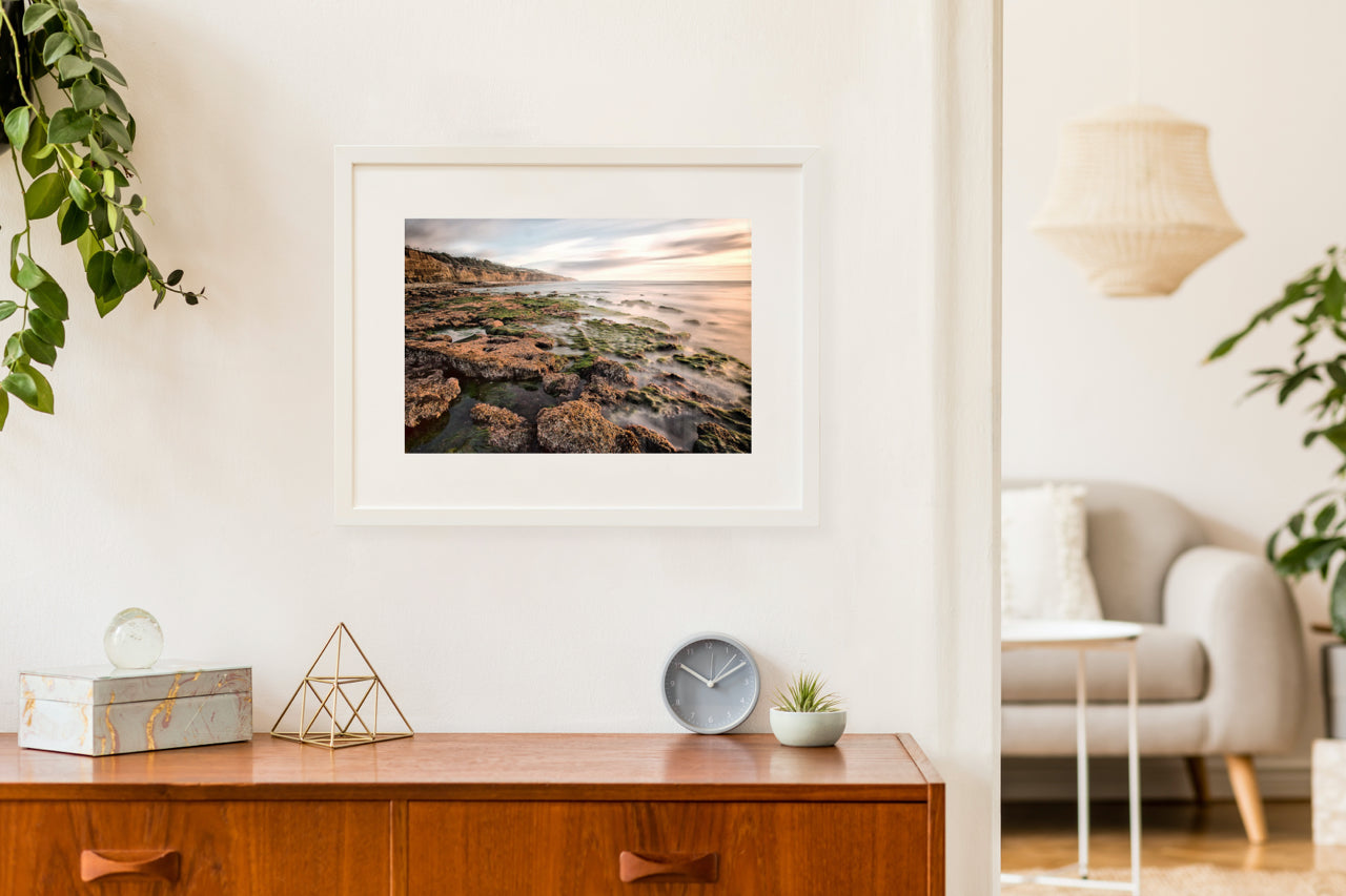 Matted Prints - Low Tide At Sunset Cliffs