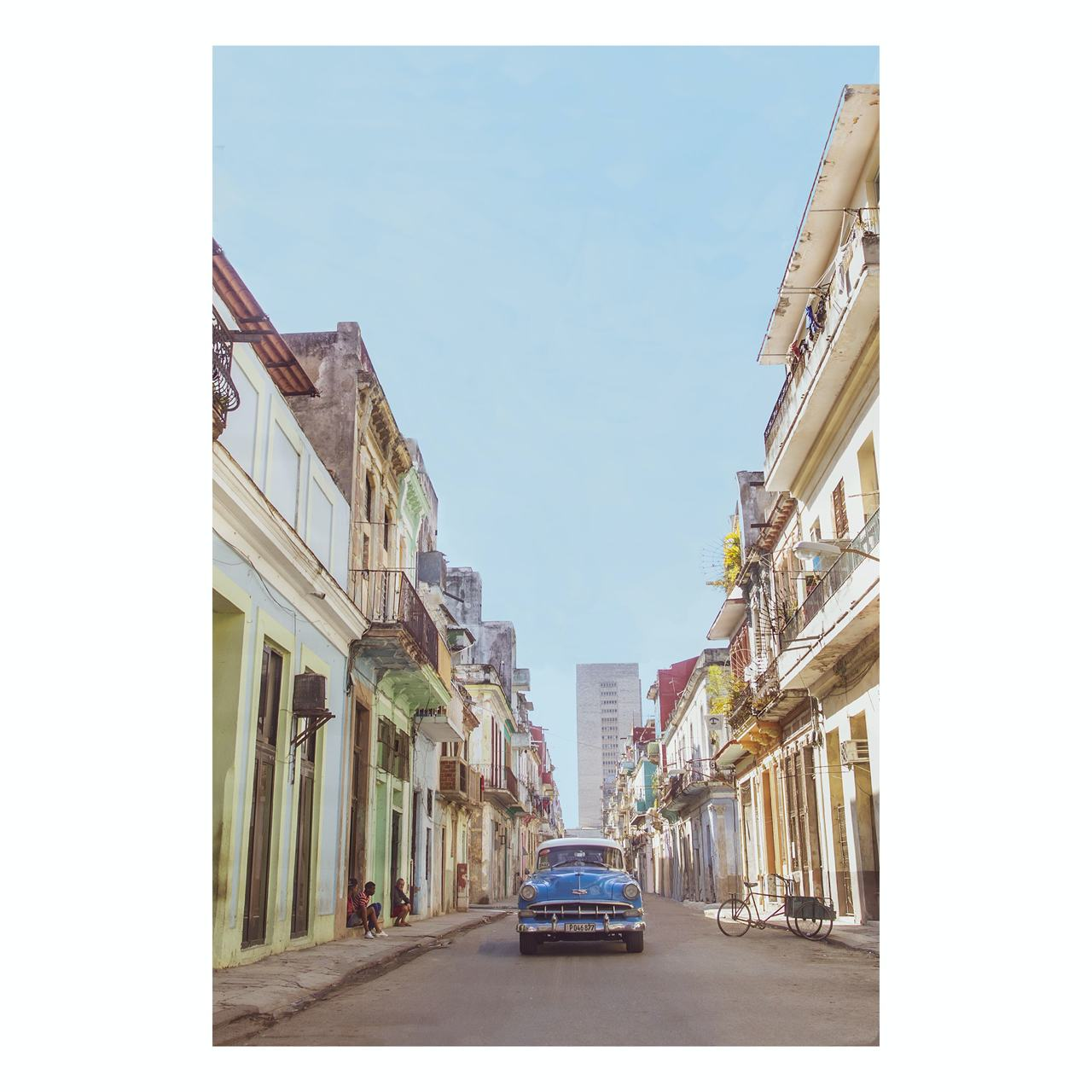 "Matted Prints - ""Powder Blue Beauty In Cuba"" 