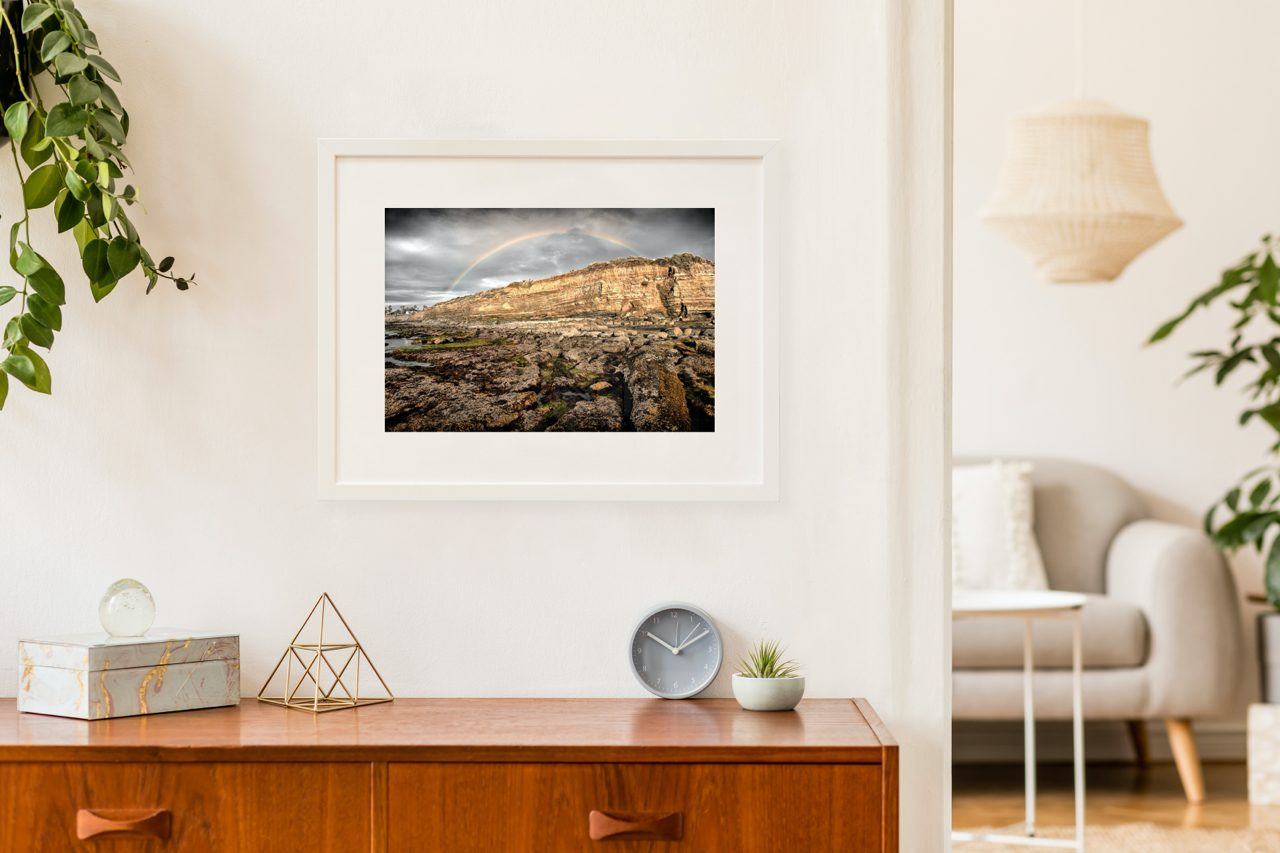 "Matted Prints - ""Sunset Cliffs Rainbow"" 
