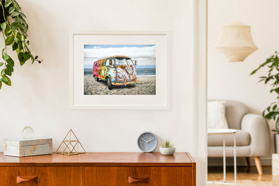 Matted Prints - The California Bus