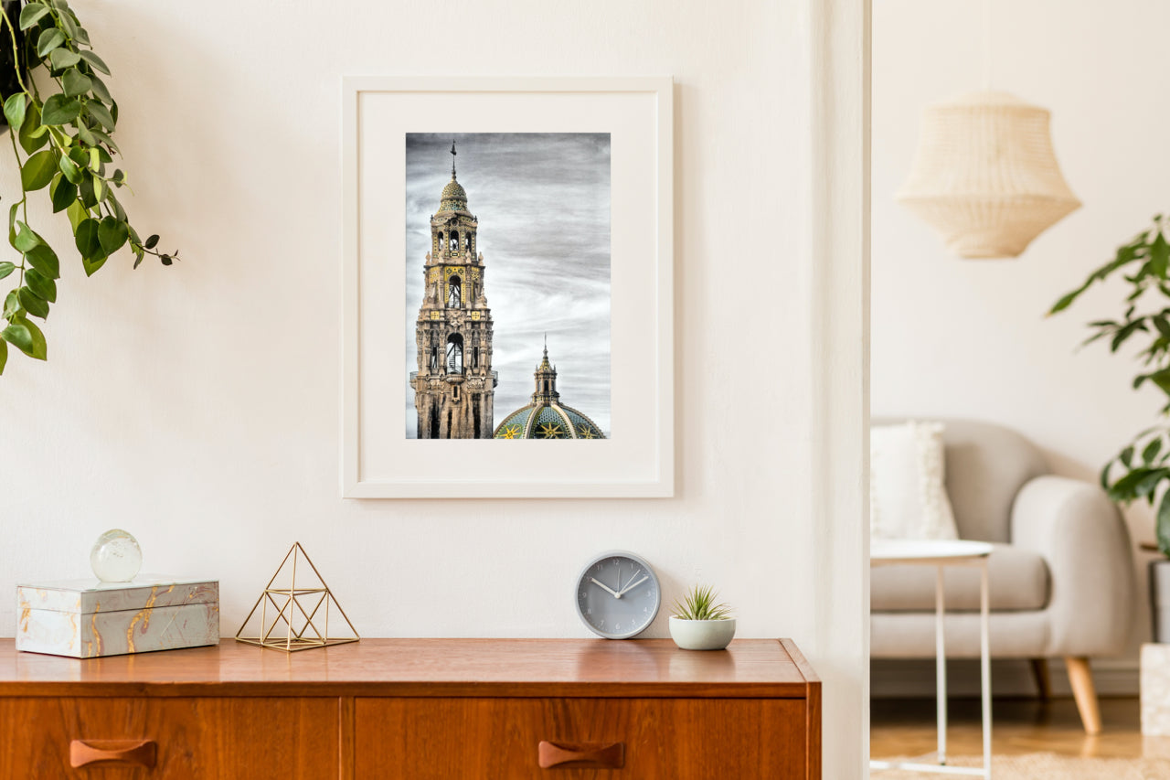 Matted Prints - Tower And Dome