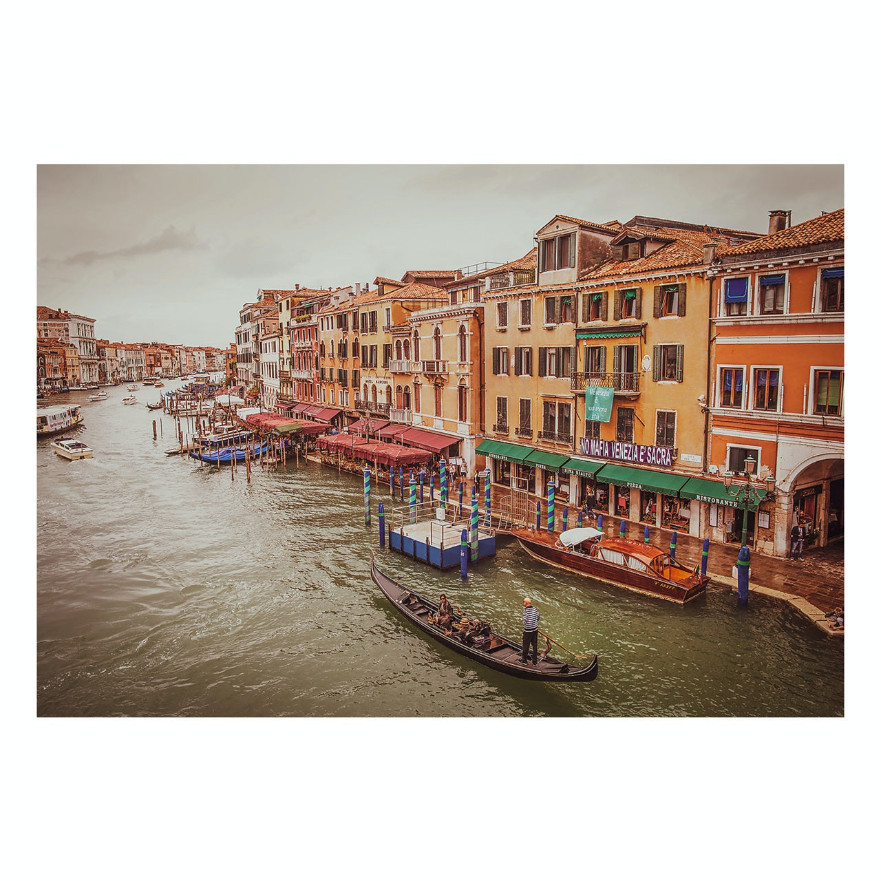 "Matted Prints - ""View From The Rialto Bridge"" 