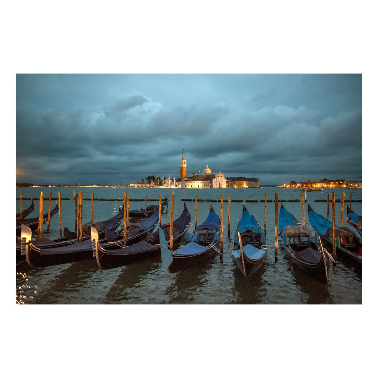 "Matted Prints - ""View Of The Island Of San Giorgio Maggiore, Venice"" 