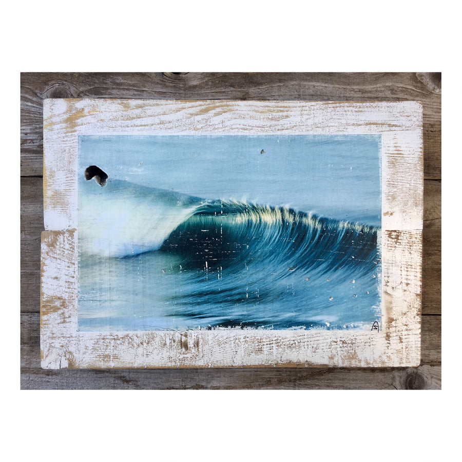 Wood Art Print - Blue Crush