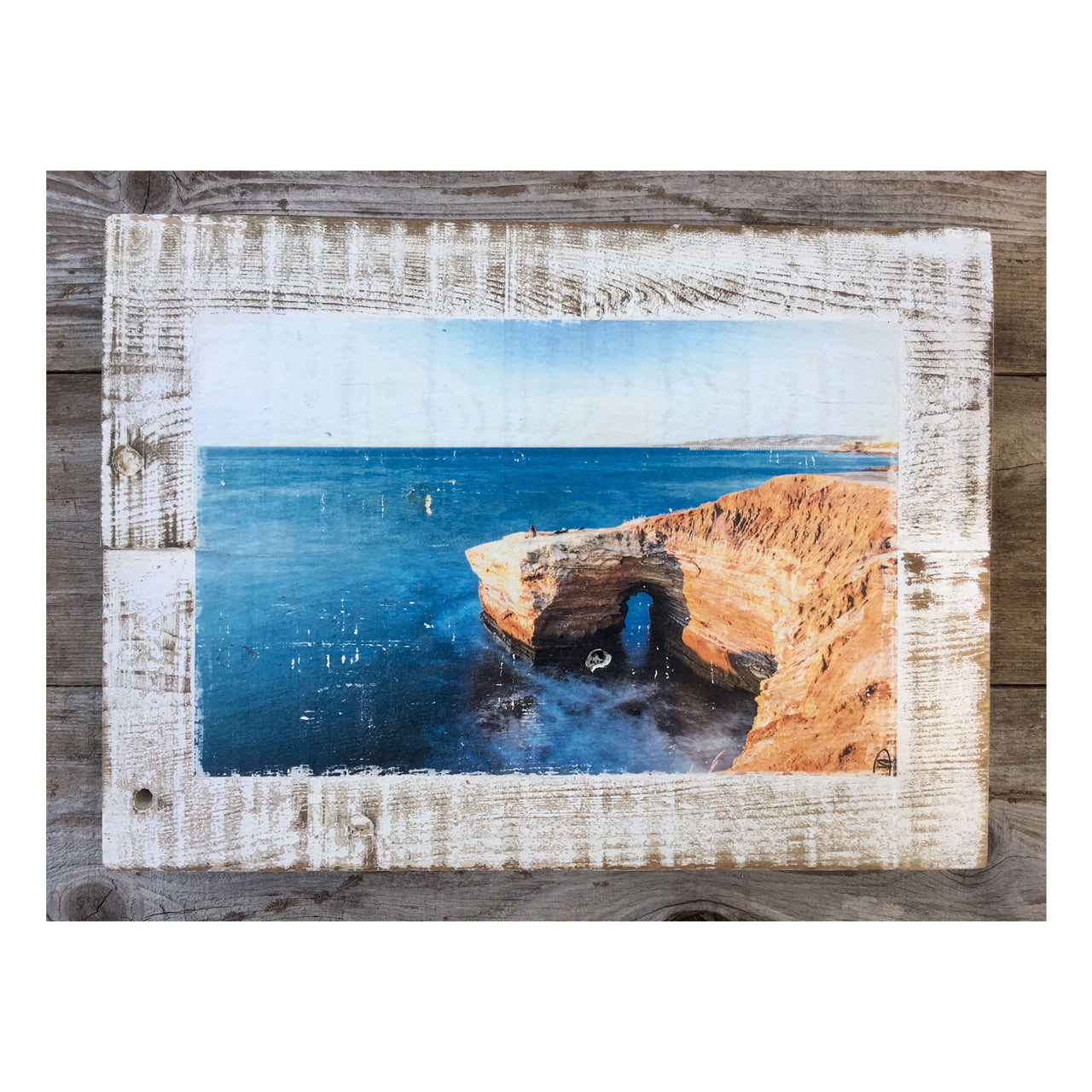 Wood Art Print - Blue Ocean