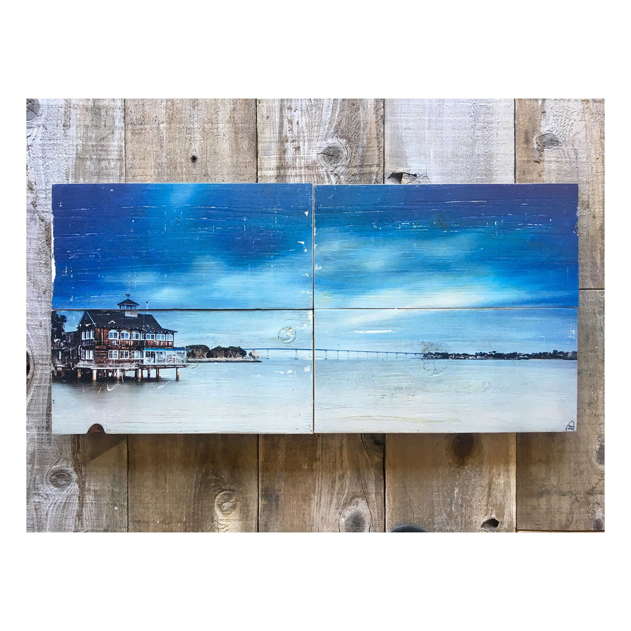 Wood Art Print - Shades Of Blue