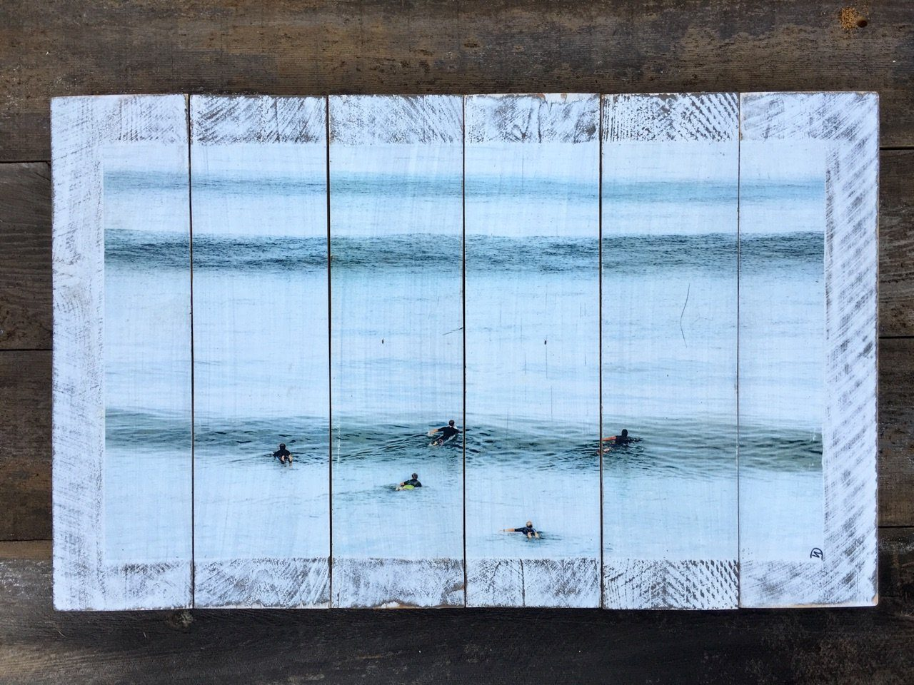 "Wood Art Print - ""Summer Surf""