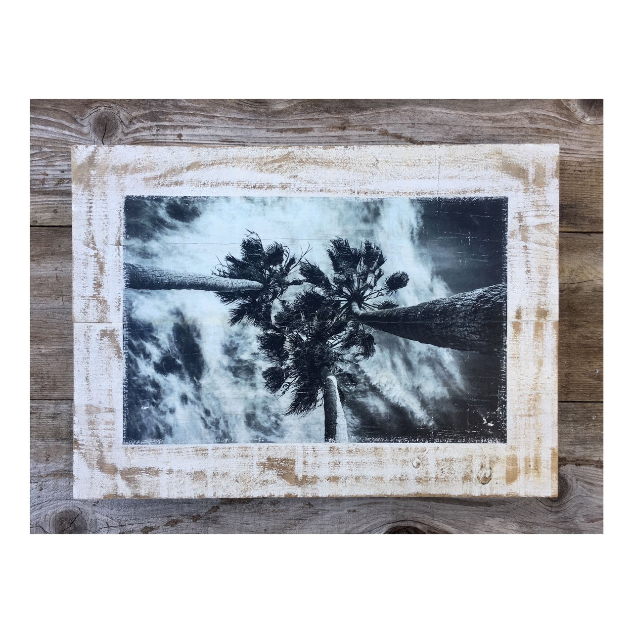 Wood Art Print - Three Palms