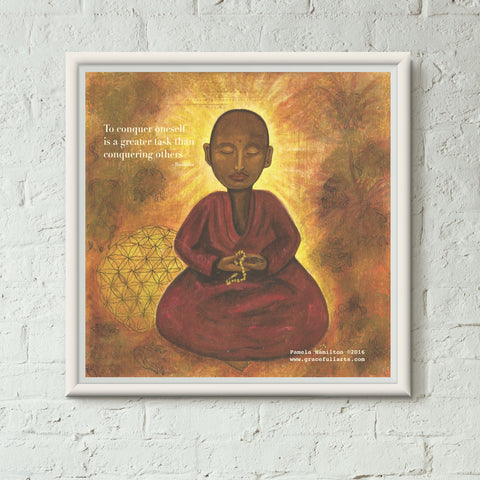 Sacred Buddha with Quote