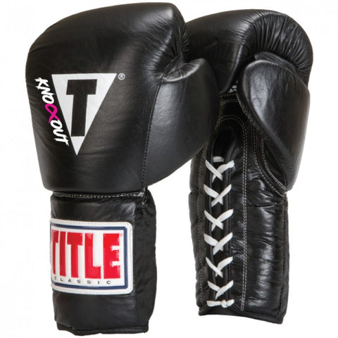 CUSTOM TITLE CLASSIC ORIGINALS LEATHER TRAINING GLOVES – LACE